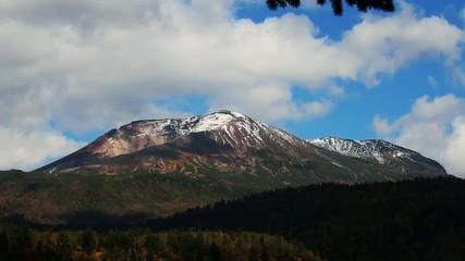 天人峡滝見台からの旭岳