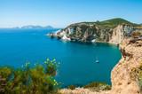 Barca a Chiaia di Luna sull'Isola di Ponza