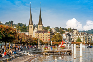Autumn cityscape of Lucerne, Switzerland