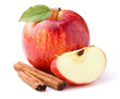 Leinwanddruck Bild - Apple with cinnamon