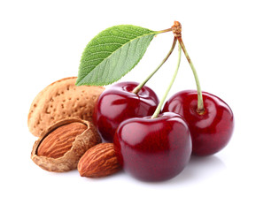 Cherry with almonds