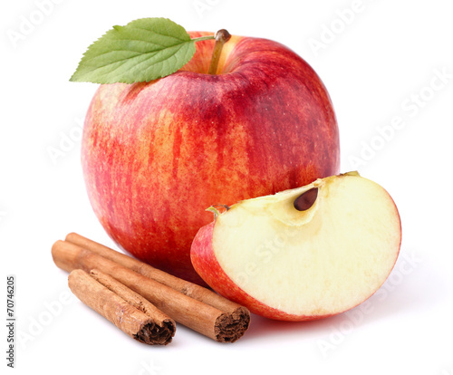 Leinwanddruck Bild Apple with cinnamon