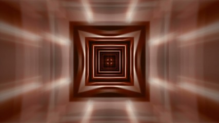 abstract loop motion background, brown cube