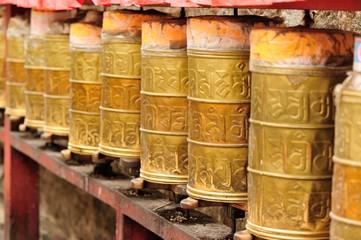 buddhist prayer wheels in tibet,china