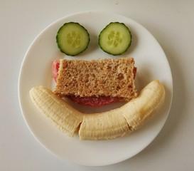 Frühstück als Gesicht