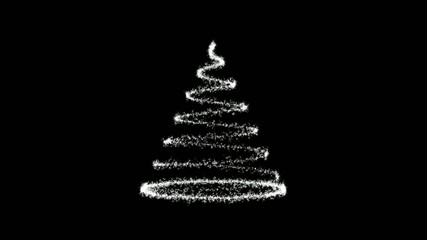 christmas tree  black and white