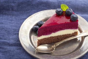 Slice of blueberry cheesecake4