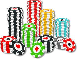 Poker chips - Fichas de apuesta