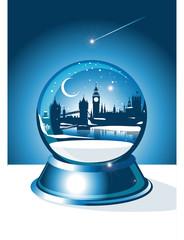London Christmas Skyline