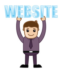 Website Text - Cartoon Vector