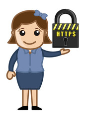 Secure Server - Cartoon Vector