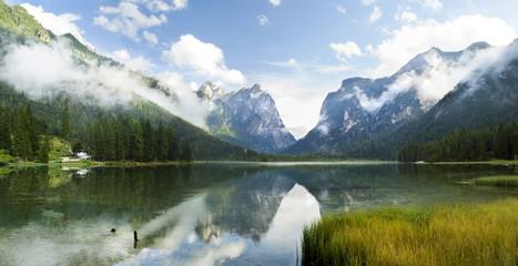 Lago di Dobiacco lake in Italy