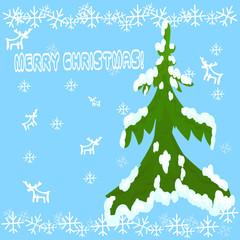 New Year, Merry Christmas, Christmas tree