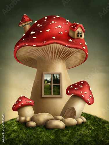 Fantasy mushroom house - 70750059