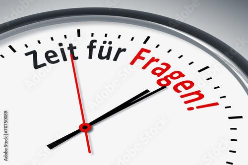 Leinwanddruck Bild Uhr mit Text