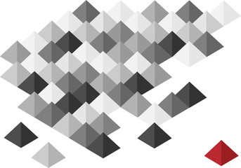 abstract pyramids background