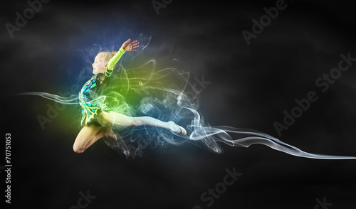 Leinwanddruck Bild Gymnast girl