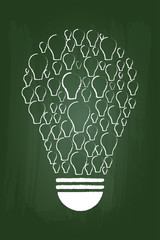 Idea Vision Concept On Green Chalkboard
