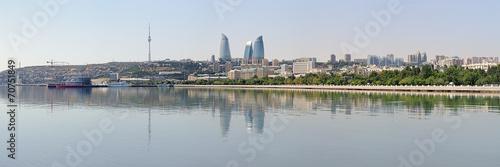 Panorama of Baku from Caspian Sea, Azerbaijan - 70751849