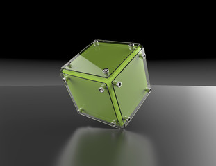 transparent cube for your graphic design