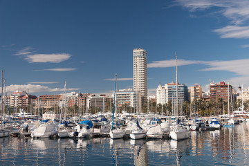 Harbour of Alicante, Spain