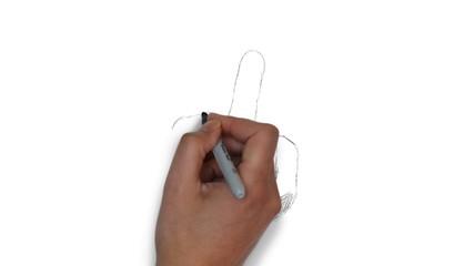 Stinkefinger Mittelfinger Finger Zeichnung Illustration