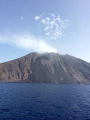 Vulcano di Stromboli nelle Isole Eolie in Sicilia