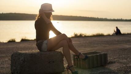 Beautiful woman relaxing on a beach