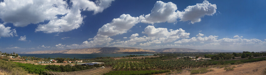 Sea of Galilee panorama.  Israel