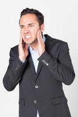 Geschäftsmann mit Zahnschmerzen