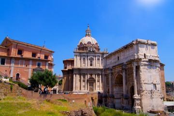 Forum Romanum arc and church