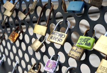 Love Padlocks Bridge Fence