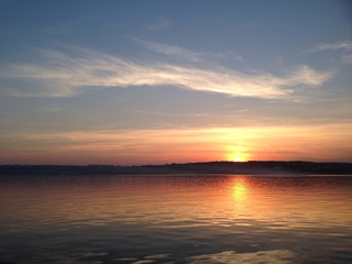 sunset on Volga river