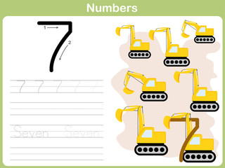 Number Tracing Worksheet: Writing 0-9