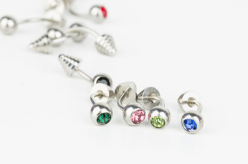 Jewelry for piercing - Stock Image macro.