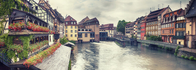 water panorama in Strasbourg