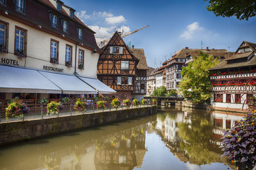 water canal in Strasbourg, France