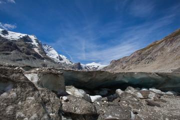 Melting Mountain Glacier - Stock Photo