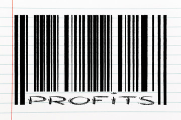 product bar code with profits instead of number id
