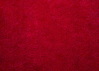 red soft wool fabric background