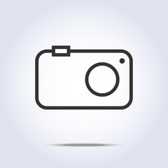 Simple camera icon gray color
