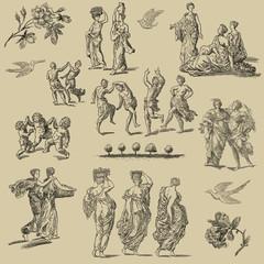 Country women illustration