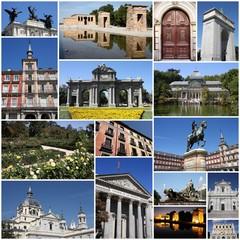 Madrid - travel photo collage set