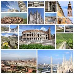 Italy photos - travel photo collage set