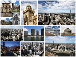 Melbourne, Australia - travel photo collage set