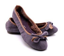 Comfortable shoes for women on white background