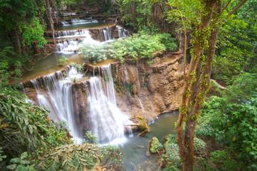 Huai Mae Khamin Waterfall. The most popular places in Kanchanabu