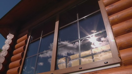 TIMELAPSE: clouds and sun in the window