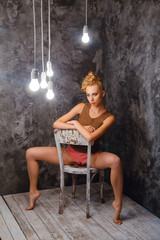 Girl sitting on the chair