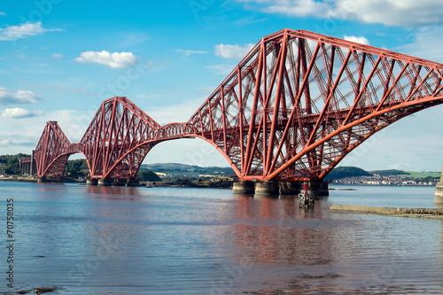 Leinwanddruck Bild The impressing railway bridge over the Firth of Forth